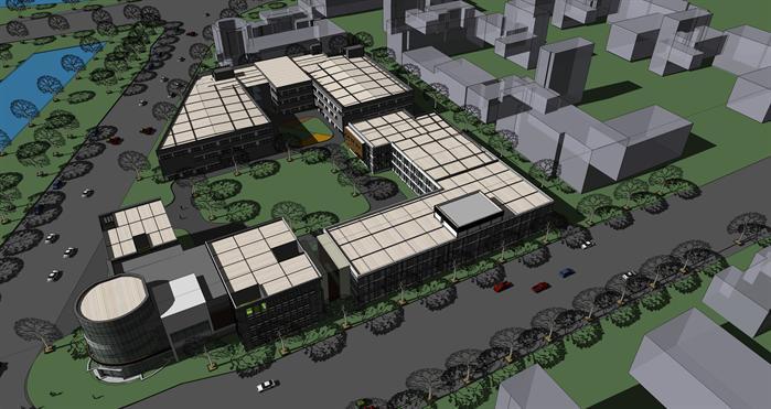 现代商业区建筑设计方案SU模型,该模型设计精细,细节处理得当,材质处理较好,风格是现代式风格,周围景观也做了粗略的处理,是很好的商业区建筑设计方案参考作品。