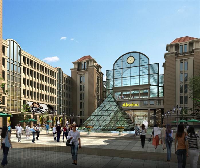 某欧式综合商业区商业街建筑设计方案[原创]图片