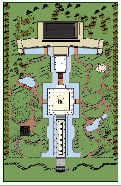 博物馆景观设计方案平面图(5)