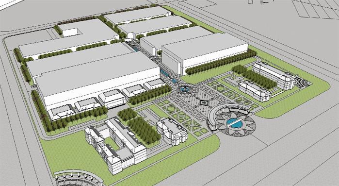 一套厂房和公寓的方案设计(包括平面,立面,总图及su建模)(1)