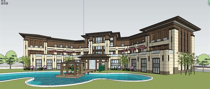 某售楼处建筑设计方案局部效果图(5)-某新古典风格售楼处建筑设计图片