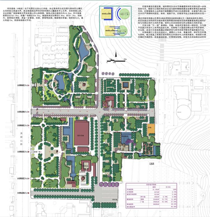 公园绿地规划设计方案平面图(2)