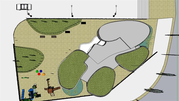 幼儿园建筑设计方案 su模型[原创]