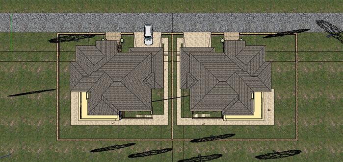某欧式独栋别墅建筑方案设计顶视图型(2)