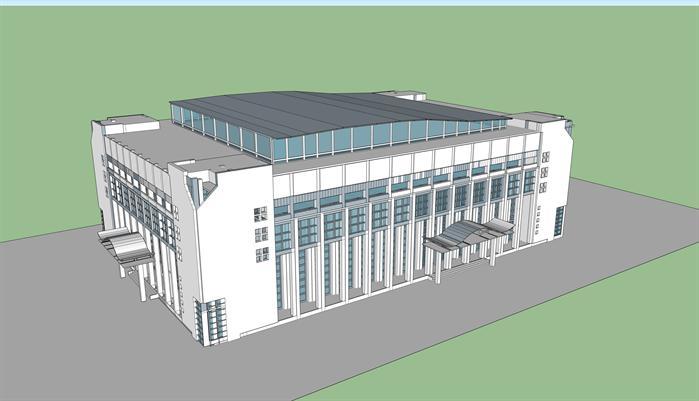 某体育馆外形建筑方案设计su模型[原创]