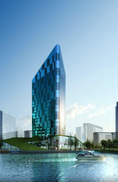 某现代风格中高层住宅区建筑设计方案图[原创]