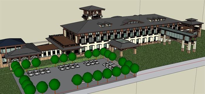 这是一套外国设计师设计的某酒店及别墅的设计方案,风格以欧式为主。 该套资料内包含整个区域的总体规划图、酒店及别墅的设计方案、部分节点的详细设计方案及后期效果图等内容,内容全面,规格尺寸都有详细的描述。 该资料还含有与设计方案符合的SU酒店建筑模型,模型制作十分精致,可以适当修改后作为素材备用。
