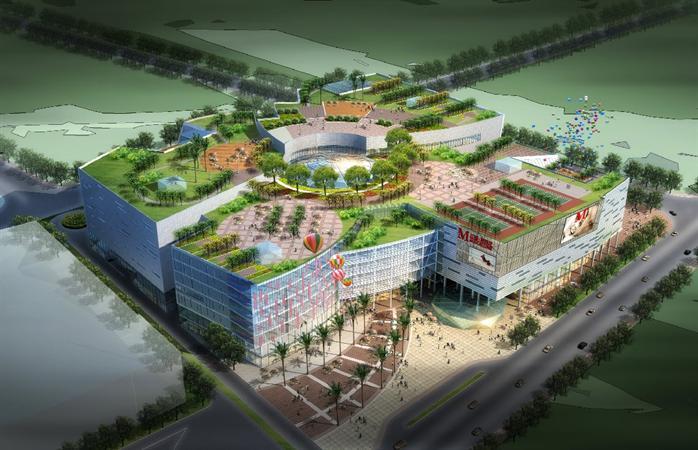 某商业综合体建筑设计方案 su模型(1)