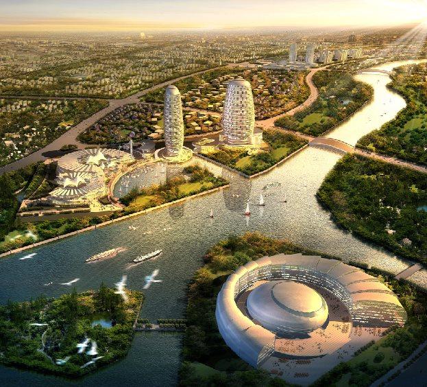 某河道周圍建筑總體規劃設計圖[原創]