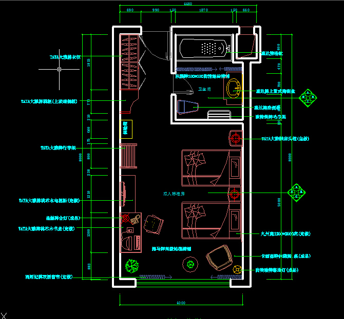 某酒店方案设计CAD平面图 含立面图