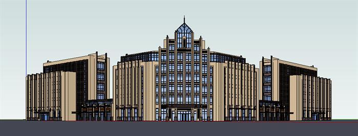 新古典酒店,办公楼现代别墅建筑设计方案效果图(2)