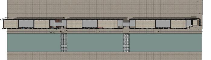 欧式沿街商业街建筑设计方案顶视图(2)