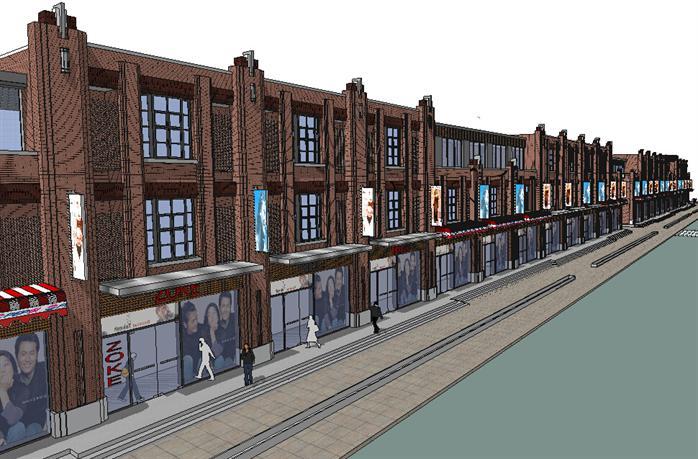 欧式沿街商业街建筑设计方案效果图(1)图片