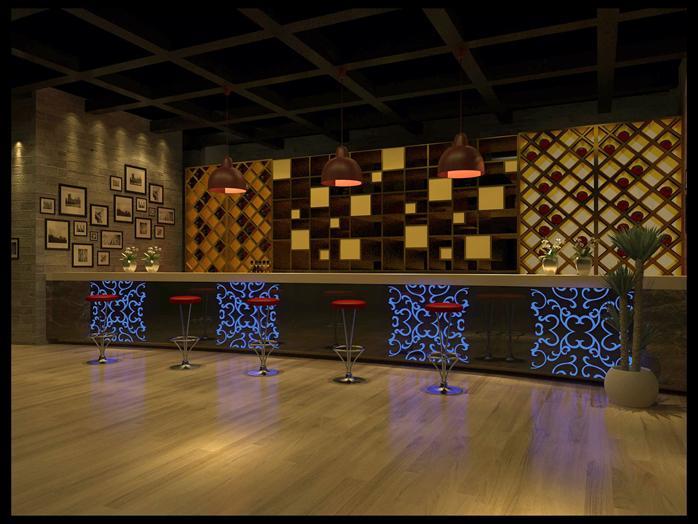 咖啡館前臺裝飾設計方案3dmax模型(含效果圖)