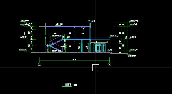 垃圾中转站建筑设计方案剖面图(2)