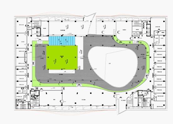 深圳某少年宫建筑方案设计图片文本(含效果图)