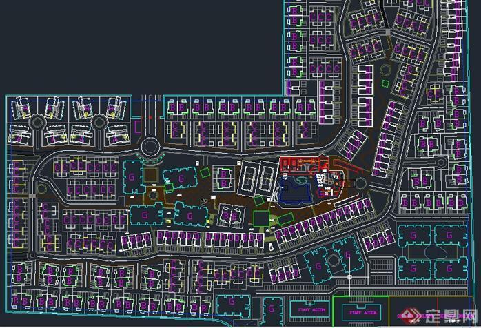 某别墅住宅区建筑设计规划图(英文)[装修]别墅a别墅宁波原创图片