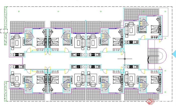 某还是住宅区建筑设计规划图(英文)[原创]好联排别墅好平层别墅大宅图片