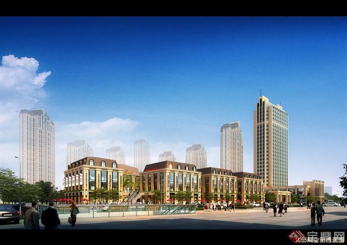 新古典风格居住区建筑设计方案su模型(带效果图)