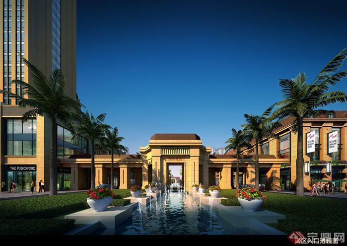 新古典风格居住区建筑设计方案效果图(3)