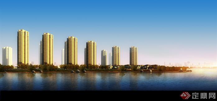 某新古典高层住宅建筑设计方案效果图 1