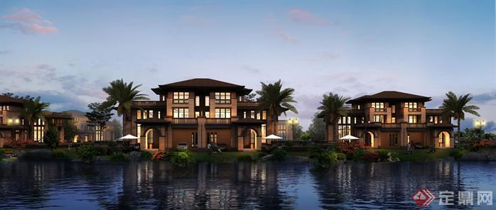 某新古典高层住宅建筑设计方案效果图 3