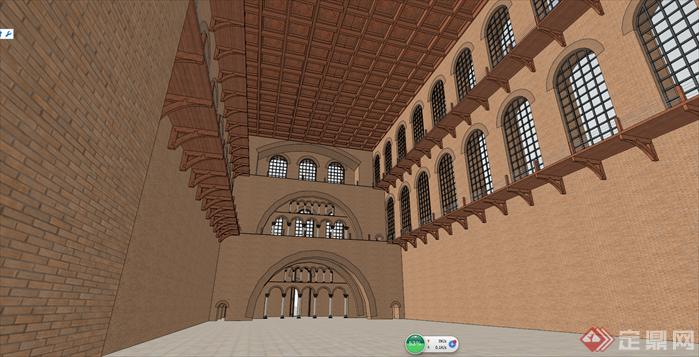 某欧式教堂建筑设计su模型[原创]