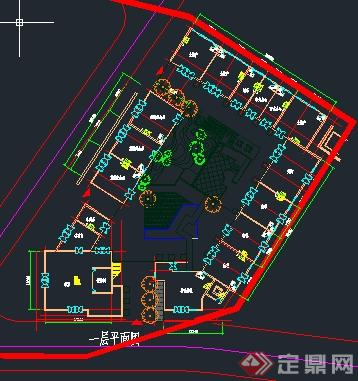 溧阳某温泉公建度假酒店建筑设计总平面图(1)