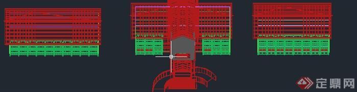 溧阳某温泉公建度假酒店建筑设计总平面图(2)