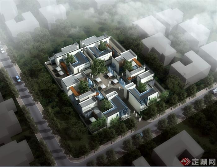 新中式四合院筑设计方案
