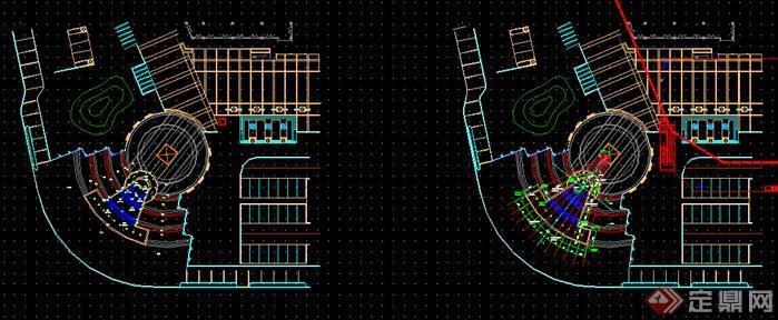 上虞某广场景观设计方案水景平面图(3)