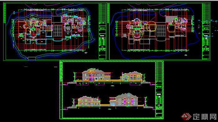 某欧式住宅别墅建筑设计方案平面图(3)