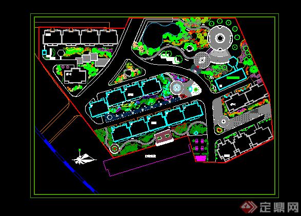 某小区规划设计CAD平面图