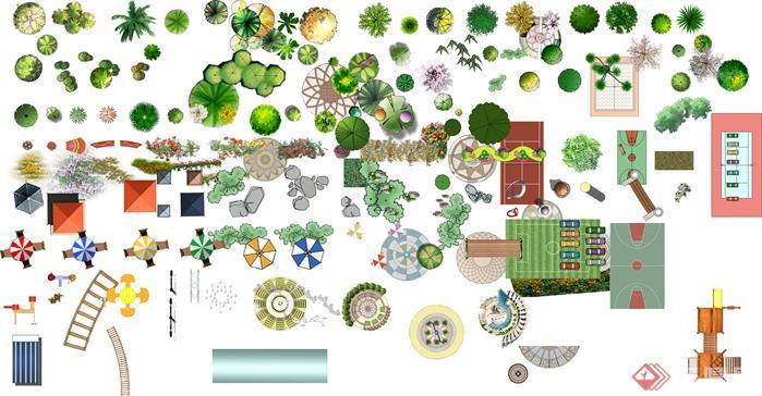 园林景观配景小品设计素材(psd格式)