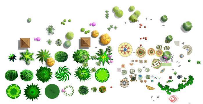 园林景观平面园林植物psd分层素材