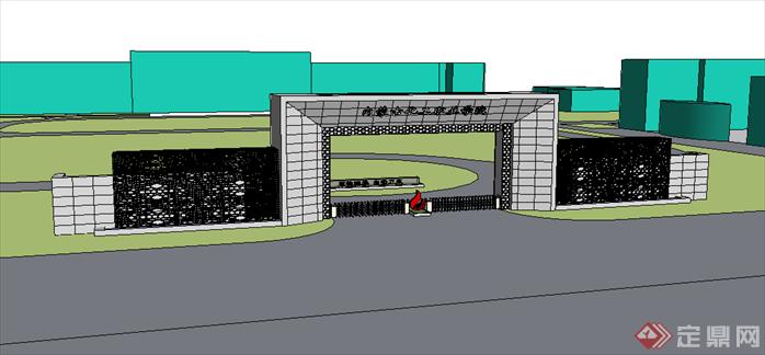 内蒙古某大学校门建筑方案设计