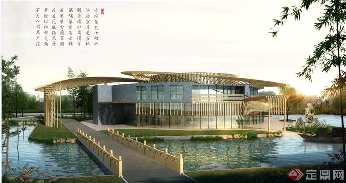 某现代风格音乐展厅建筑方案设计