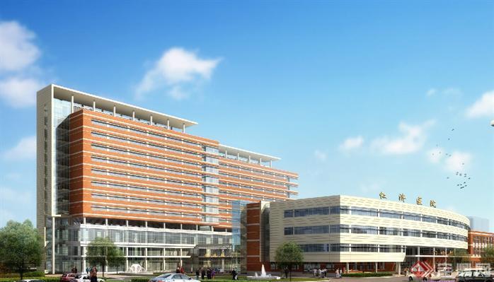 上海某现代风格医院建筑设计方案图[原创]
