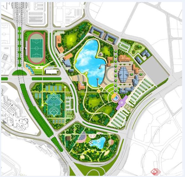 多个小区的园林景观规划设计方案总平图