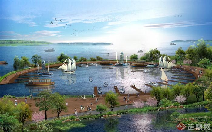 某园林滨水景观PSD效果图