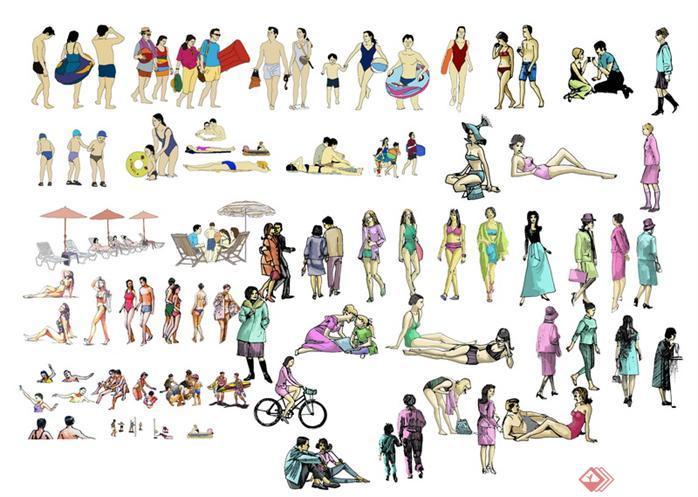一些手绘人物psd分层效果图素材