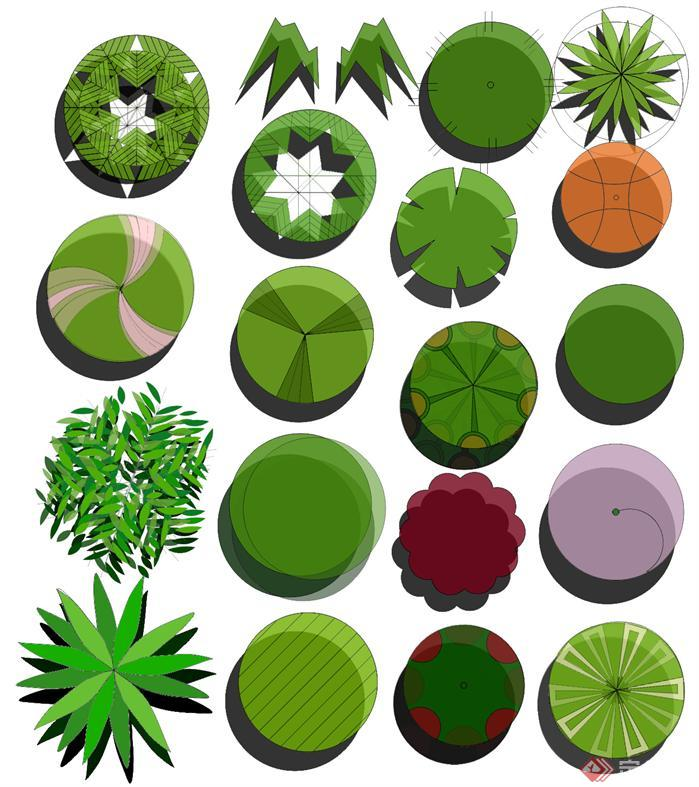 某手绘植物平面素材(psd格式)