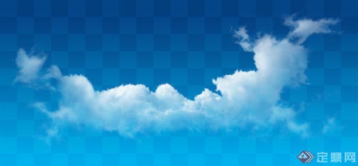 透明云朵云层效果图psd分层素材5