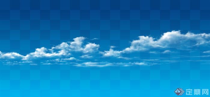 透明云层psd分层素材