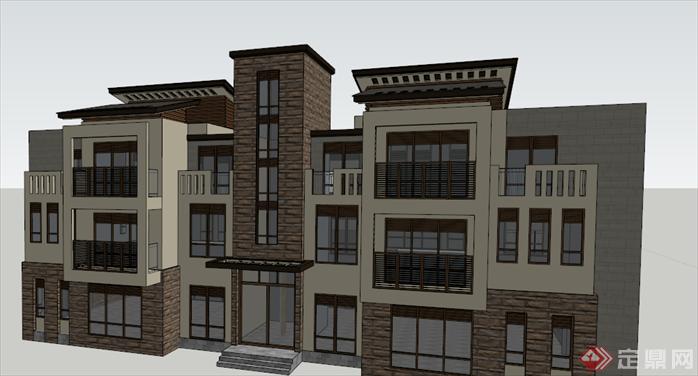 某新古典别墅建筑设计方案su模型[原创]