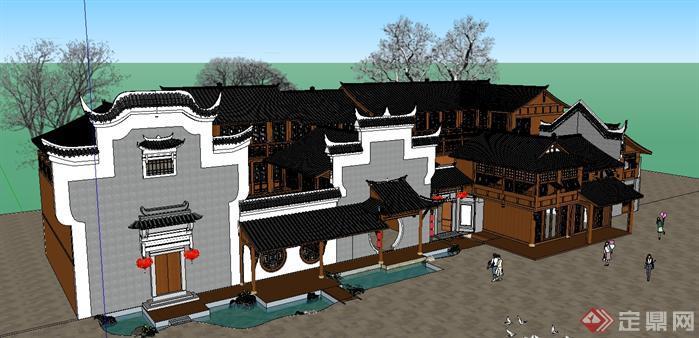 某徽式茶楼戏馆建筑设计方案(2)