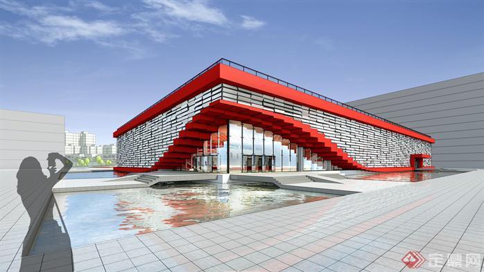 某现代体育馆建筑设计方案su模型[原创]
