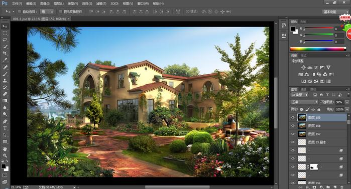 一些欧式风格别墅建筑psd分层效果图[原创]图片