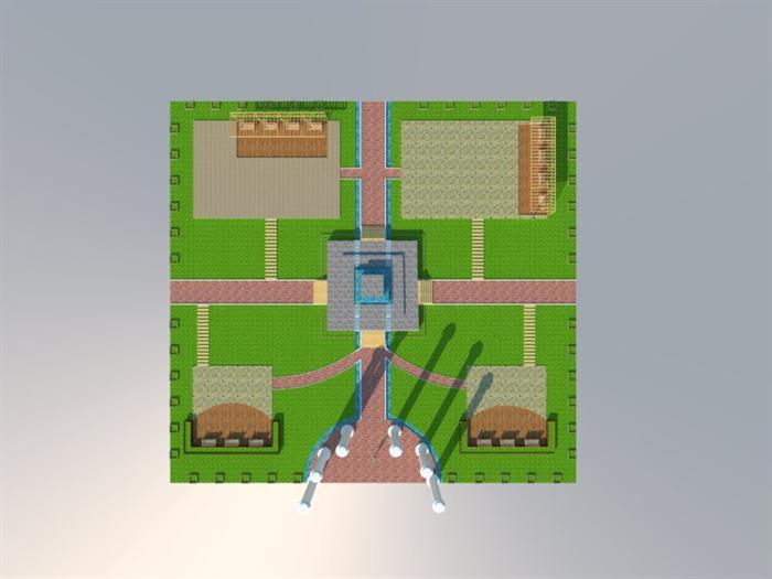 某新中式广场景观设计方案顶视图(1)