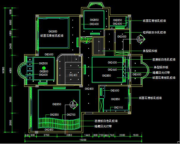 三室两厅一厨一卫一保姆房装饰设计图-约200平(3)